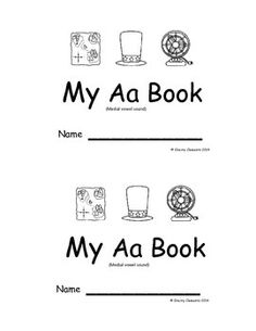 Emergent Reader: My Aa Book: (sight words: what, is, this, it) pictures included have the medial short /a/ vowel sound $