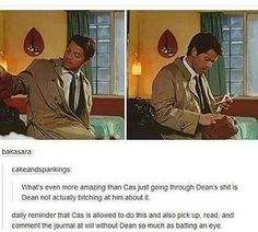 they are best friends, that is the only way I ship Destiel