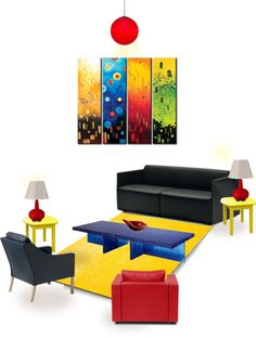"""""""Primary Living Room"""" by musho on Polyvore"""