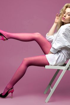 Nylon Stockings and Pantyhose Pink Glitter Tights Fishnet Lingerie, Fishnet Stockings, Fishnet Tights, Women's Tights, Tights And Heels, Pantyhose Outfits, Pantyhose Heels, Colored Tights Outfit, Pink Tights