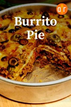 """Burrito Pie   """"This is the first recipe I've made in a LONG time where everyone at the table cleaned their plates - and asked for seconds (or thirds in my husband's case!). With two young kids (3 and 5) this rarely happens (unless we're having hot dogs!)"""" #allrecipes #dinnerideas #dinnerrecipes #dinnerdishes #familydinnerideas #supper #supperideas Mexican Cooking, Mexican Food Recipes, Mexican Desserts, Vegetarian Cooking, Dinner Dishes, Food Dishes, Burrito Pie Recipe, Tamale Recipe, Pie Recipes"""
