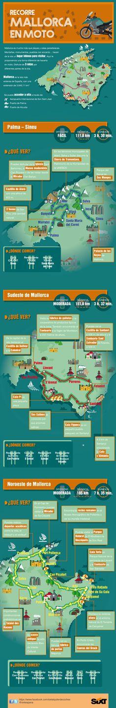 """""""Recorre Mallorca en moto"""", #infografia para Sixt España (julio 2014)"""