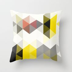 Modern Totem 01. Throw Pillow by Three Of The Possessed - $20.00