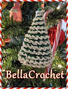 BellaCrochet: Country Cottage and Tree Ornaments; A Free Crochet Pattern for You