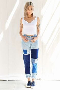 Urban Renewal Recycled French Workwear Patch Jean - Urban Outfitters