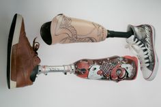 prosthetic limbs image | Graffiti Covered Prosthetic Arms and Legs from France | Jeremyriad ...