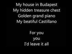 Budapest - George Ezra | Lyrics Video | HD - YouTube