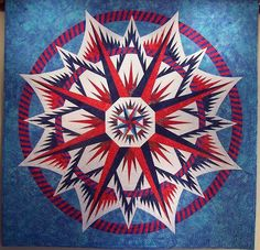 Mariner's Compass, Quiltworx.com, Made by Terri.
