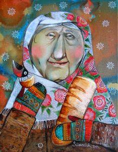 Illustration of Anna Silivonchik National Art Museum, Fred, Ukrainian Art, Naive Art, Disney Scrapbook, Russian Art, Art Journal Inspiration, Figurative Art, Collage Art
