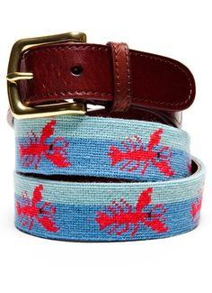 Lobstah Needlepoint Belt