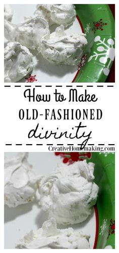 Easy old-fashioned divinity recipe that would make your grandma proud. Great hol… Easy old-fashioned divinity recipe that would make your grandma proud. Great holiday recipe to give as a Christmas gift. Mason Jar Gifts For Christmas, Christmas Snacks, Christmas Cooking, Christmas Recipes, Homemade Christmas, Christmas Goodies, Christmas Projects, Christmas Ideas, Xmas