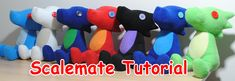 Scalemate Plushie Tutorial. Homestuck sewing projects. They also have squiddles and Casey.