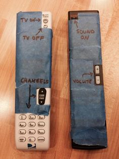 Grandparent Proofing Your Remote Controls  lol @Judith Zissman Zissman Zissman Zissman de Munck bihari