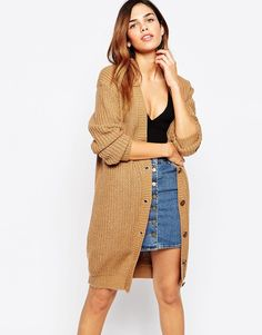 Pin for Later: Cosy Up in Style in Autumn's Must-Have Knitwear Glamorous Chunky Knit Longline Cardigan Glamorous Chunky Knit Longline Cardigan originally Longline Cardigan, Long A Line, Must Haves, Knitwear, Latest Trends, Asos, Bohemian, Glamour, Knitting