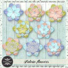 Elements : fabric flowers - Scrap'Angie