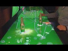 Heineken Interactive Bar Schiphol airport Lounge 2 - YouTube (beer, bar, touch table, heinekin, lounge, retail, food, food and drink, beverages)