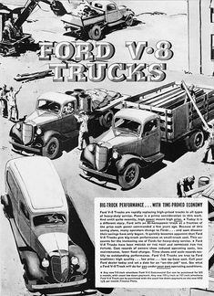 1930s Ford truck ad