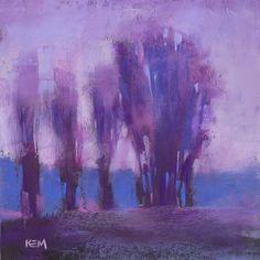 Contemporary Landscape Purple 10x10 pastel by Karen Margulis