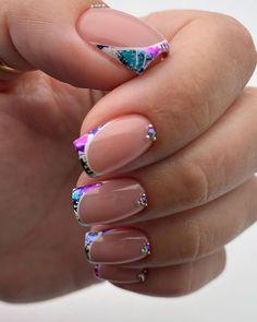 30 Wow Wedding Nail Ideas ❤ nail ideas wedding french with colorful foil lyasha_nevskaya #weddingforward #wedding #bride #nailideas #bridalbeauty #weddingnails