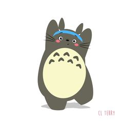 Day 84.  Totoro is your mum in the 80s.