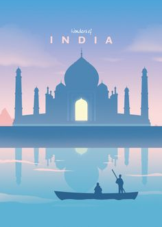 Wonders Of The World Travel poster prints by Retina Creative