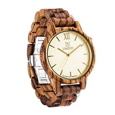Uwood Luxury Brand Zebra Sandal Wooden Mens Quartz Movt Analog Watch With Bamboo Gift Box * See this great product.