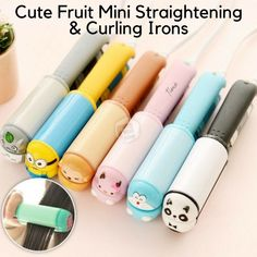 Cute Fruit Mini Straightening and Curling Irons Please whatsapp us at +91-9300002732 For more updates Cash on delivery available DIGITAL WAY TO ENJOY SHOPPING - eAlpha
