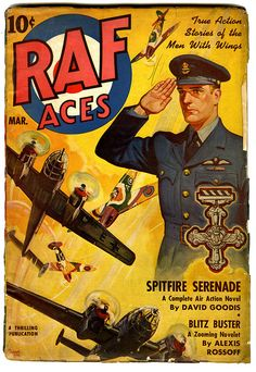 True Action Stories Of The Men With Wings    March, 1942. Cover by Rudolph Belarski.