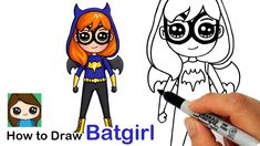 Learn How to Draw cute Batgirl from DC Super Hero Girls easy, step by step drawing lesson tutorial. 💕How to Draw Super Heroes. Kawaii Disney, Cute Kawaii Girl, Kawaii Art, Batgirl, Batman Comic Art, Gotham Batman, Batman Robin, Modern Disney Characters, Drawing Lessons