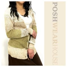 FREE PEOPLE Neutral Tone Oversized Boxy Cardigan Front button closure • Sized XS, but fits an 8 best! • Cotton, Mohair, Acrylic, Polyester & Other Fibers  Like what you see? Follow me! On PM @PoshWearHouse  On IG www.instagram.com/PoshWearHouse  On FB www.facebook.com/PoshWearhouse Free People Sweaters Cardigans