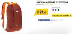 Mochila Arpenaz 10 Quechua - Três Cores Disponíveis << R$ 2999 >>