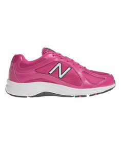 Another great find on #zulily! Pink Mesh 496v2 Walking Shoe - Women by New Balance #zulilyfinds