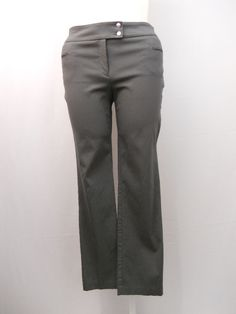 "SIZE 14 Casual Stretch Pants STYLE&CO. Solid Grey Slim Leg Mid Rise 30"" Inseam  #Styleco #CasualPants"