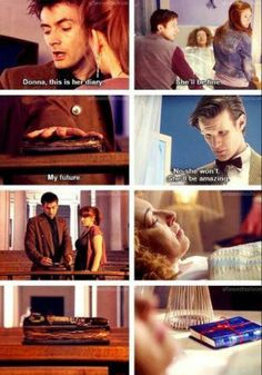 Diary of River Song...everything concerning River and the Doctor makes sense now and I wish it didn't...MOFFATT!!!!!!!
