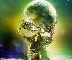 Gaia arises shapeshifting into many forms within the consciousness of humanity.