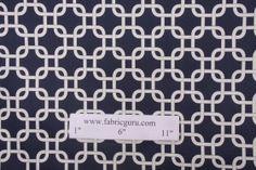 Window Treatment  Fabric Guru- Premier Prints Gotcha-Twill Printed cotton drapery fabric in Blue $7.95/yd  CODE: 1138 44.2