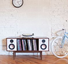 @deptchicago's hi-fi #stereo cabinet is a modern take on a classic, especially if you listen to #vinyl. But it even works with Bluetooth devices
