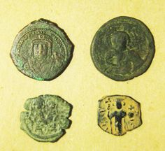 Group of 4 Byzantine Bronze Coins by ClioAncientArt