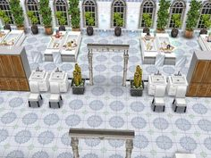 #Sims #Freeplay I love the color scheme with the floors and windows and the plants.