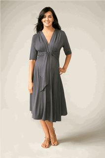 Tie Front Maternity Dress in 4 COLORS! by Maternal America