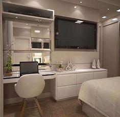 Inspiration du jour Beauté confort et sophistication définissent ce Room Design Bedroom, Room Ideas Bedroom, Home Room Design, Small Room Bedroom, Home Decor Bedroom, Stylish Bedroom, Aesthetic Bedroom, Dream Rooms, Luxurious Bedrooms