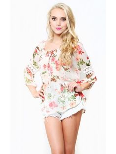 Garden Tea Party Top, would cute with a long flowing skirt