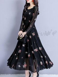 Women S Fashion Queen Street Mall Info: 1077132195 Indian Gowns Dresses, Modest Dresses, Trendy Dresses, Simple Dresses, Cute Dresses, Beautiful Dresses, Casual Dresses, Fashion Dresses, Black Dress Outfits