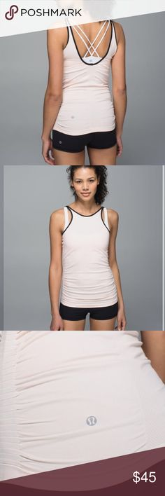 •Lululemon• In the Flow Tank Lululemon in The Flor Tank in Heathered Buttered Pink. In Excellent Used Condition. Rip Tag Removed for Comfort, I Believe this is a size 2. We designed this tank with lightweight fabric and body-mapped Mesh venting to keep us feeling cool and covered, and gave it a slim fit so it stays put while we're sweating. lightweight fabric and seamless construction make this tank sweat-wicking and chafe-resistant gathers at the side keep you covered while you bend, twist…