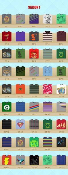 Sheldon Cooper T-Shirts - Season 1 - The Big Bang Theory
