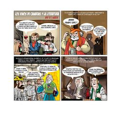 Juanan Rodríguez Los vinos de Canarias y la literatura. Ahí es nada Lápiz, tinta china y color digital 31 x 31 cm.