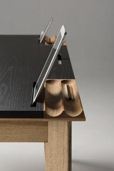 furniture details Minimalist Desks: OLLLY desk by Pavel Vetrov Retro Furniture, Plywood Furniture, Cool Furniture, Furniture Design, Furniture Buyers, Rustic Furniture, Luxury Furniture, Office Desk Furniture, Contemporary Furniture