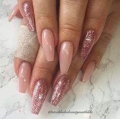 Acrylic coffin nails have been in the fashion since the past few years, but it seemed to be going nowhere as that of French Manicure. The coffin nails are also known as Ballerina nails, that have been. Gorgeous Nails, Love Nails, Fun Nails, Sexy Nails, Glam Nails, Matte Nails, Nagel Hacks, Nagellack Design, Cute Nail Art Designs