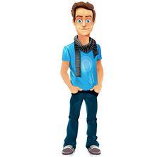 Vector Boy Character - Freebie #cartooncharacter #vectorcharacter #character #vector