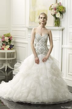 val stefani wedding dresses spring 2014 bridal strapless ball gown style d8059